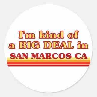 Je suis un peu une AFFAIRE dans San Marcos Sticker Rond