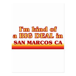Je suis un peu une AFFAIRE dans San Marcos Carte Postale