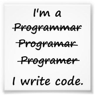 Je suis un programmeur que j'écris le correcteur o photographie