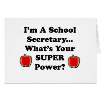 Je suis un secrétaire d école carte de vœux