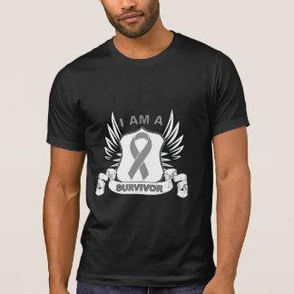 Je suis un survivant - cancer du cerveau tee shirts