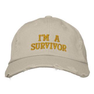 Je suis un survivant casquette de baseball brodée