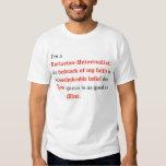 Je suis un universaliste unitarien tee-shirt