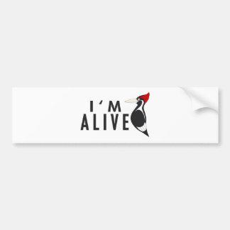 Je suis vivant - pivert affiché par ivoire autocollant de voiture