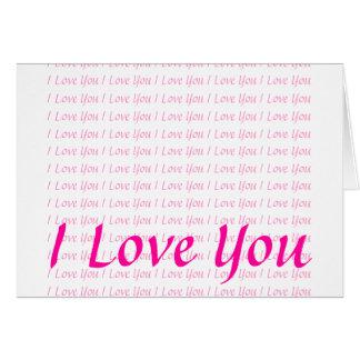 Je t aime cartes de vœux