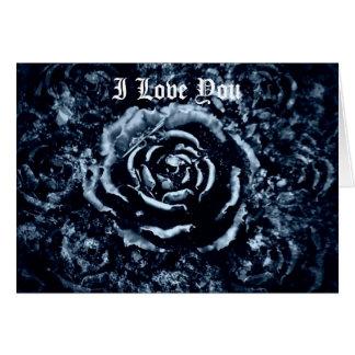 Je t aime carte romantique gothique de rose de ble