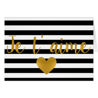 Je t' aime Valentine card Love