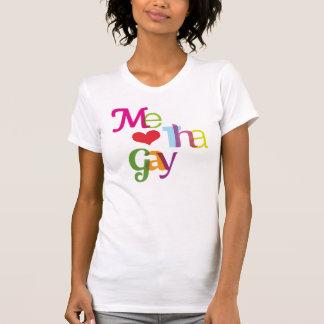 Je T-shirt gai de filles de typographie d'amour
