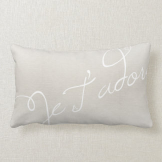Je T'adore French for I Adore You Lumbar Pillow