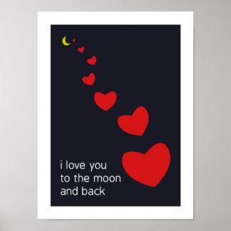 je t'aime à la lune et au dos - affiche