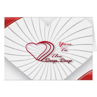 Je t'aime au profond carte de correspondance