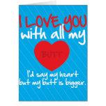 Je t'aime avec tout mon bout carte de vœux