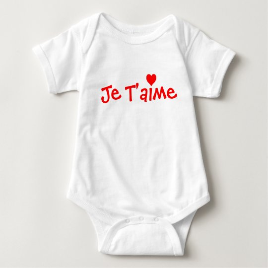 Je T'aime baby shirt - Customized