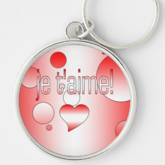 Je t'aime! Canada Flag Colors Pop Art Keychain