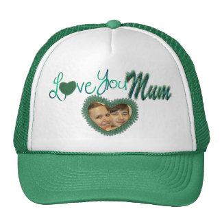 Je t'aime chapeaux de photo de maman pour la maman casquettes