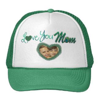 Je t'aime chapeaux de photo de maman pour la mère casquette de camionneur
