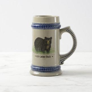 ~ je t'aime dans l'équilibre allemand de bleu d'ou mugs