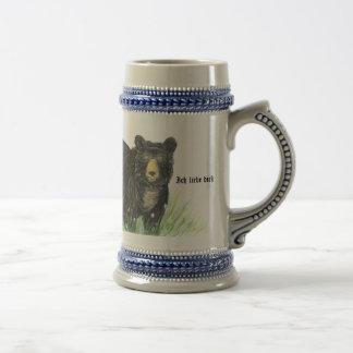 ~ je t'aime dans l'équilibre allemand de bleu d'ou tasse à café
