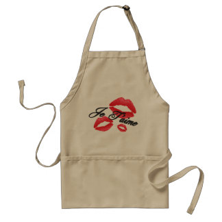 Je T'Aime - I Love You - Gift for Chefs Adult Apron