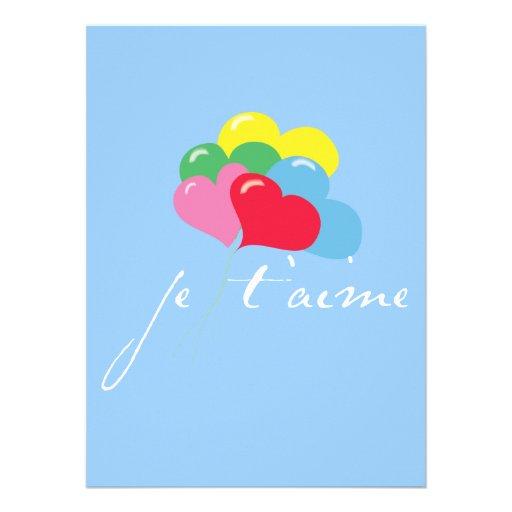 Je' taime (I love you) Invitations
