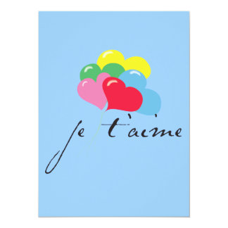 Je' taime (I love you) Personalized Announcement