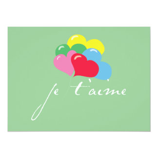 Je' taime (I love you) Custom Invitations