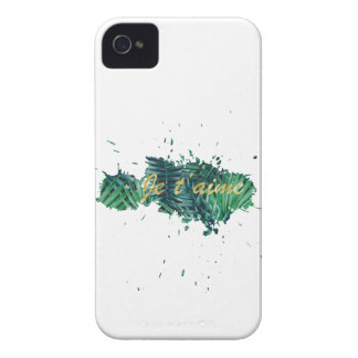 Je t'aime I love you tropical leaf Case-Mate iPhone 4 Cases
