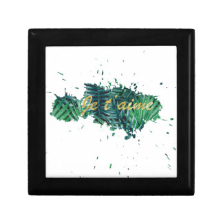 Je t'aime I love you tropical leaf Gift Box