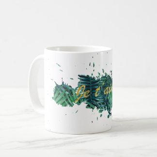 Je t'aime I love you tropical leaf Mug