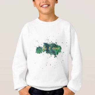 Je t'aime I love you tropical leaf Sweatshirt