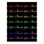 je t'aime je t'aime je t'aime carte postale