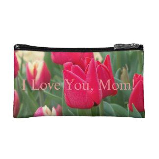 Je t'aime, maman ! Sac rouge de tulipe Trousses De Maquillage
