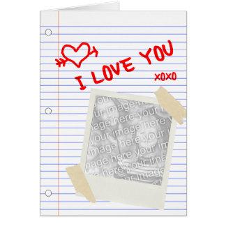 je t'aime papier carte de correspondance