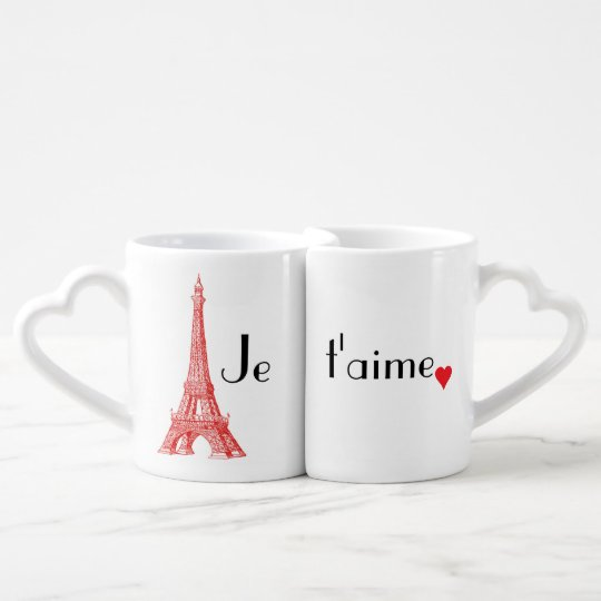 Je t'aime Paris Love Mug Set