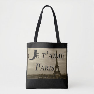 Je t'aime Paris Tote Bag
