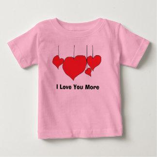 Je t'aime plus de pièce en t de bébé t-shirt