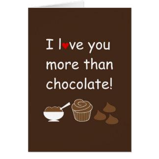 Je t'aime plus que la carte de chocolat