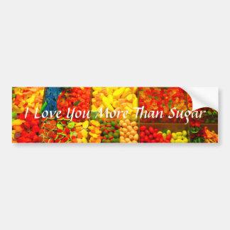 Je t'aime plus que le sucre autocollant de voiture