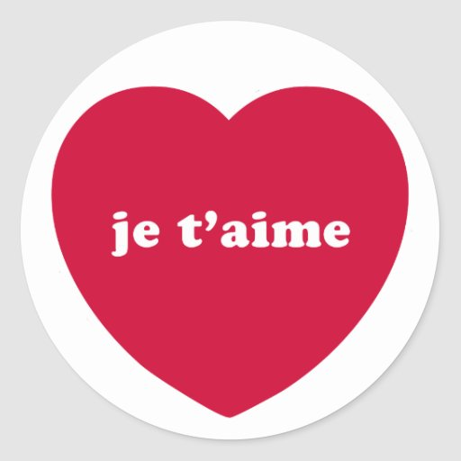 JE T'AIME ROUND STICKERS
