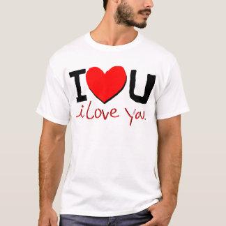 je t'aime symbole t-shirt