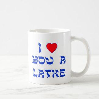 Je t'aime un Latke Mug À Café