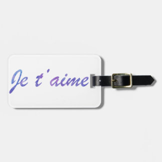 Je t'aime Water colour purple I love you Luggage Tag