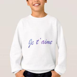 Je t'aime Water colour purple I love you Sweatshirt