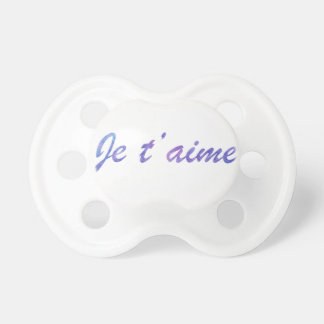 Je t'aime Watercolor purple I love you Pacifier