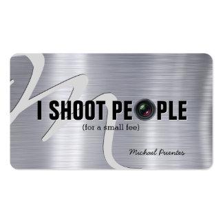 Je tire des personnes - carte de visite de photogr