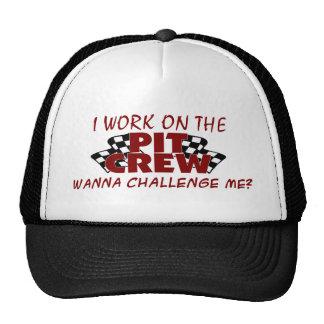 Je travaille à l'équipe du stand de ravitaillement casquette de camionneur