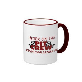 Je travaille à l'équipe du stand de ravitaillement tasse à café