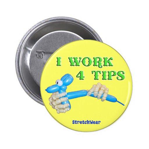 Je travaille le bouton rond de chien de ballon de  pin's avec agrafe