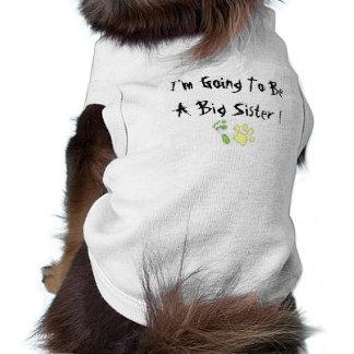 Je vais être une grande soeur manteaux pour animaux domestiques
