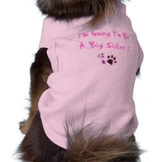 Je vais être une grande soeur ! t-shirt pour chien